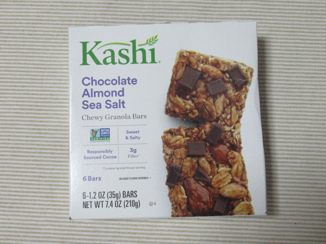 Kashi, チュイーグラノーラバー、チョコレートアーモンド海塩
