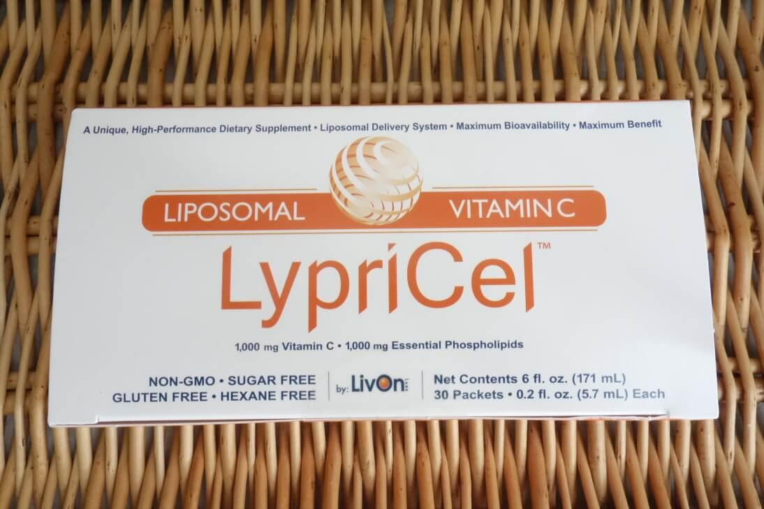 lypricelリポソームビタミンCのパッケージ