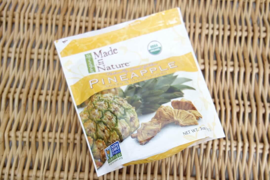 iHerbおすすめ、オーガニックパイナップルのドライフルーツ(Made in Nature)