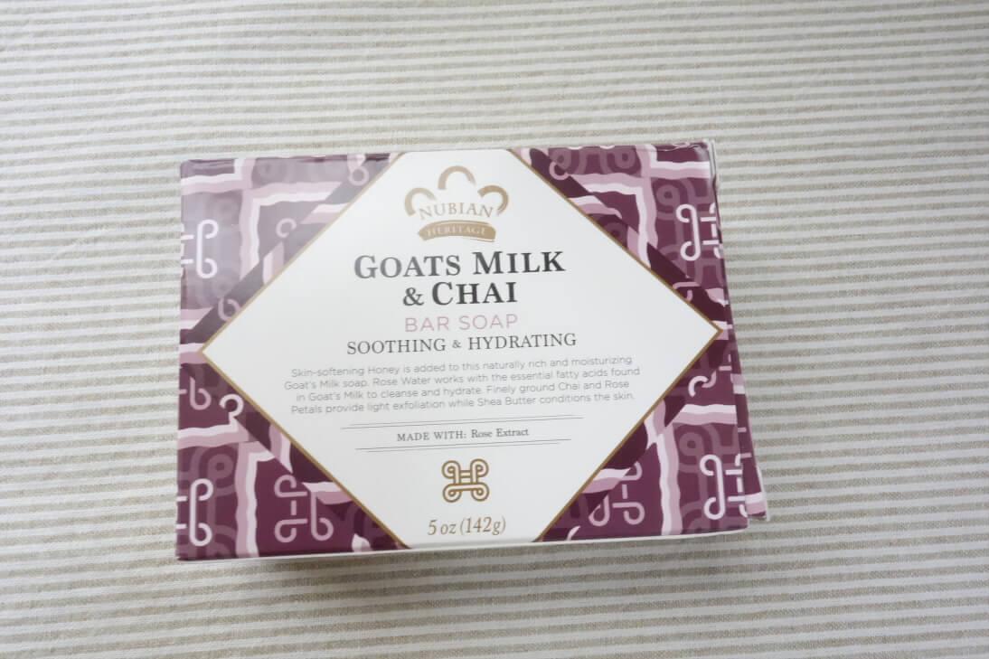 ヌビアンヘリテージのボディウォッシュと石鹸ヤギのミルク&チャイは香りが最高♪