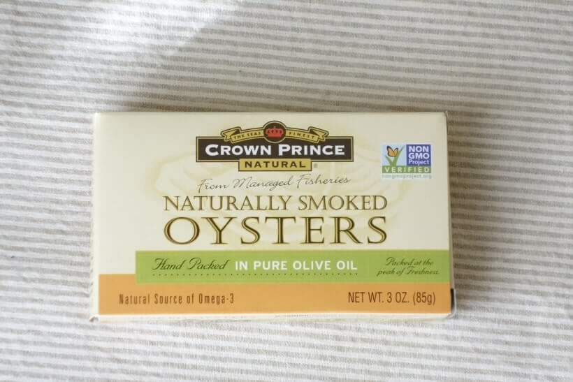 Crown Prince Natural, 自然燻製オイスターソース、ピュアオリーブオイル漬け