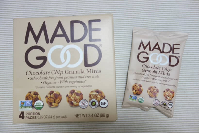 MadeGood, オーガニック、グラノーラミニ、チョコレートチップ