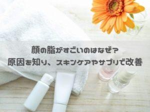顔の脂がすごい原因と対策!改善のために効果的な4つのスキンケア
