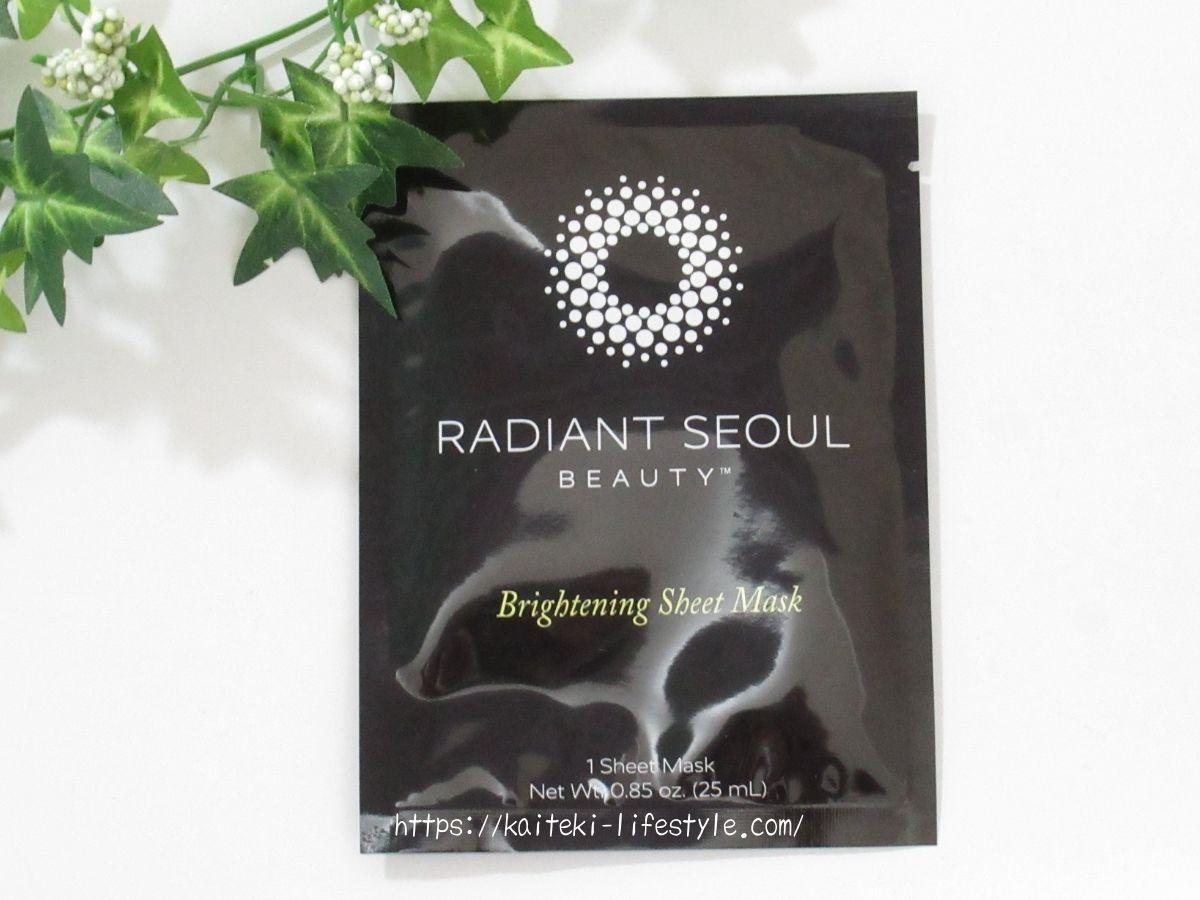 Radiant Seoulシートマスク